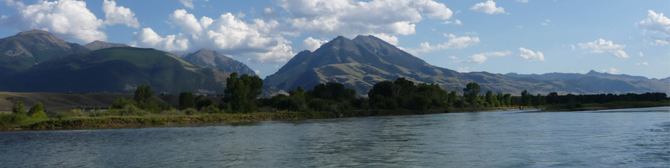 Emigrant Peak and Yellowstone River
