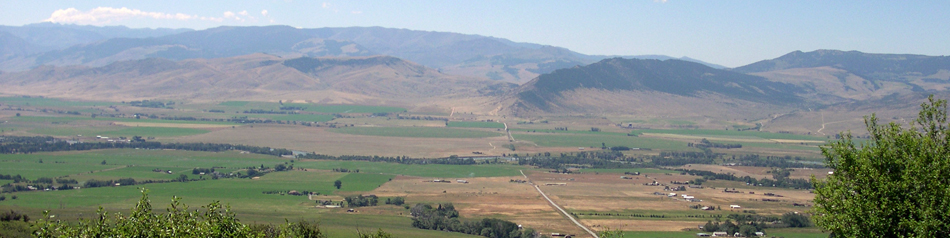 Paradise Valley and Yellowstone River
