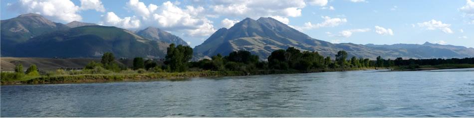 Emigrant Peak and Yellowstone River
