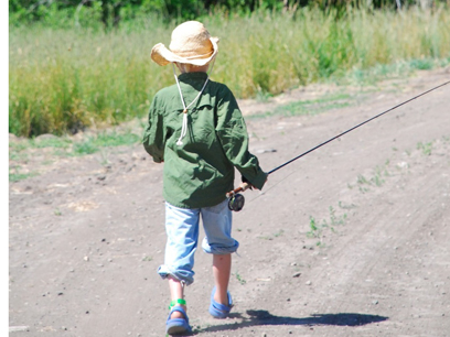 Young Boy with fly rod